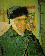 Van Gogh Self Portrait with Bandaged ear 1889