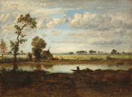 image of Landscape with Boatman