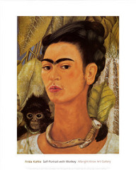 Frida Kahlo, Self Portrait with Monkey, 1938