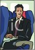 A Traveling Businessman clipart