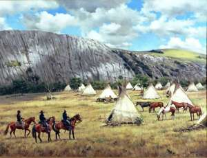 Medicine Bluff at Ft. Sill 1870's by Barbara Vaupel
